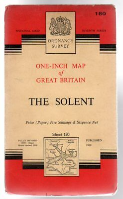 Ordnance Survey  One-Inch Map of Great Britain Sheet 180 the Solent, Anon