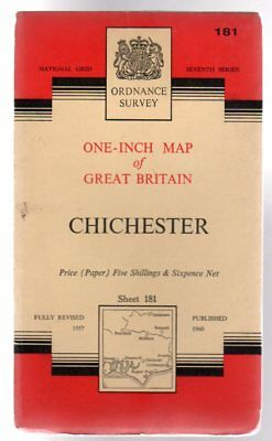 Ordnance Survey  One-Inch Map of Great Britain - Sheet 181 Chichester, Anon