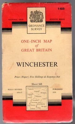 Ordnance Survey  One-Inch Map of Great Britain -  Winchester - Sheet 168,