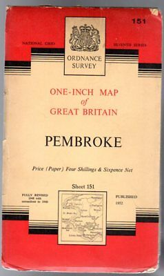 Ordnance Survey  One-Inch Map of Great Britain - Sheet  151 Pembroke, Anon