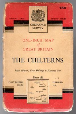Ordnance Survey  One-Inch Map of Great Britain - Sheet  159 The Chilterns, Anon