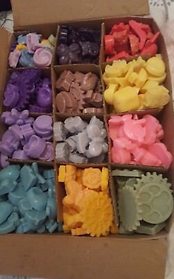 Wax melts 33 Pack Handmade Tart burner Various  Scented Coloured Shape Homemade