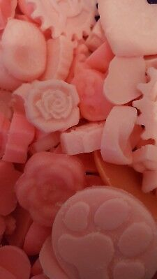 Wax Melts 35  For Tart burner PINK Homemade  Rose Scented Handmade