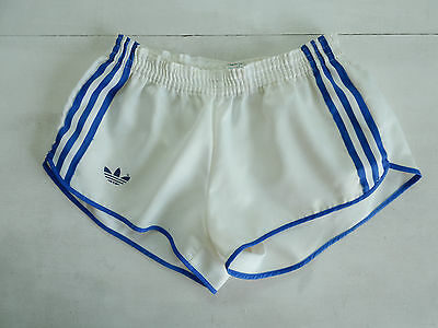 Adidas Vintage Short Glanz Sprinter Nylon Shiny Hose Retro France
