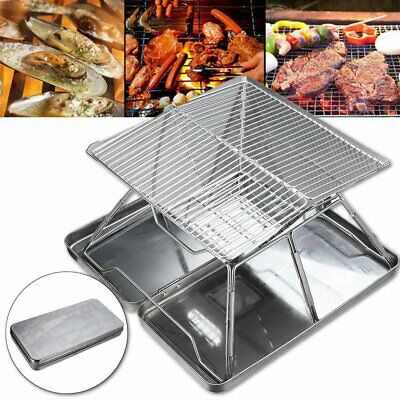 Portable Folding BBQ Grill Charcoal Stove Outdoor Barbecue Camping Picnic AU AU