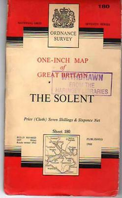 Ordnance Survey  One-Inch Map of Great Britain - Sheet 180 - The Solent, Anon