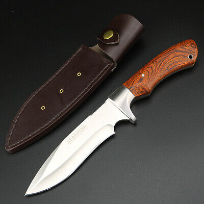 Fixed Blade Hunting Knife 8Cr13Mov Steel High Hardness Outdoor Survival Camping
