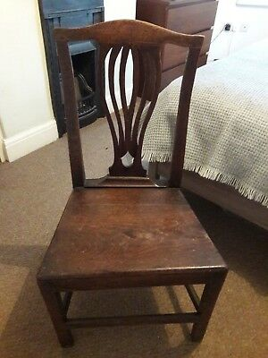 Georgian antique vintage wooden chair