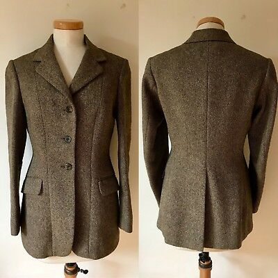 f36e2b9cb99c2 Vintage 1960s Ladies Equestrian Riding Jacket 60s Lillywhites Tweed Country  Lady