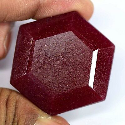 Natural 146 Ct  Certified Real Corundum Red Ruby Loose Gemstone