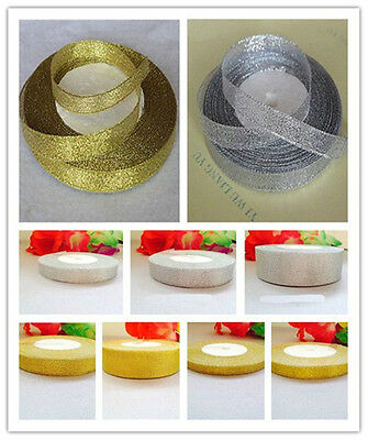 Wholesale pretty wedding ribbon gold & silver 10mm.15mm.20mm.25mm.40mm.50mm