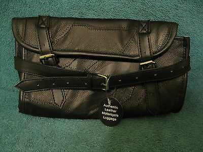 """Leather Motorcycle Tool/Luggage Bag/6""""x10"""" (item# S264)"""