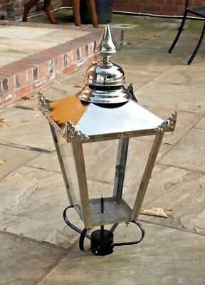 USED Ex-Display 87cm Stainless Steel Victorian Lantern Replacement Lamppost Top