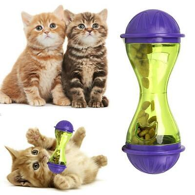 Cat Dog Feeder Plastic Funny Pet Food Dispenser Treat Ball Puppy Leakage I 01