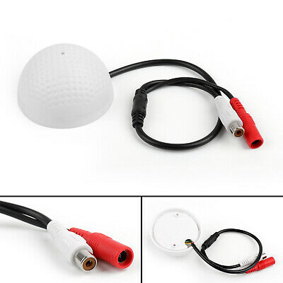 Mini Mic Audio CCTV Microphone Adapter Cable 12V DC For Security DVR Camera B2