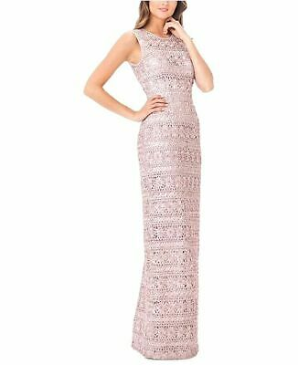 $480 Js Collections Womens Pink Sleeveless Cutout Soutache Gown Dress Size 4