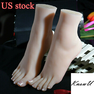 1Pcs Lifelike Silicone Feet With Bone Female Foot Model Display