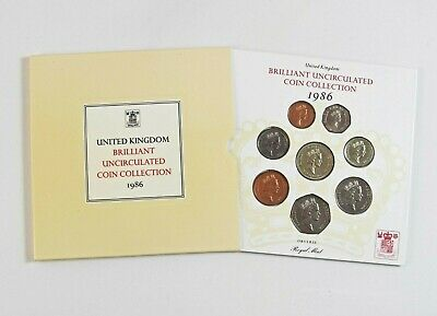 Royal Mint 1986 United Kingdom Brilliant Uncirculated Coin Collection
