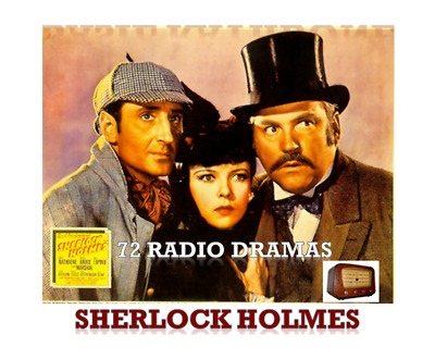 Sherlock Holmes Radio Dramas Complete Collection 72 Titles on 2 x MP3 DVDs