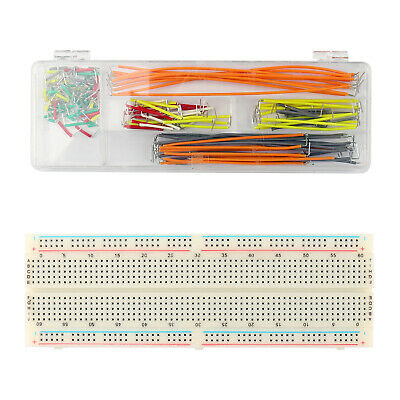 830 Tie Points Solderless PCB Breadboard MB102+140X Jumper Cable Wires BS2