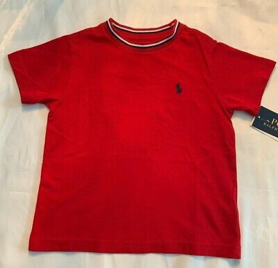 Ralph Lauren Polo  Kids Childrenswear T-shirt  Boys Crew Neck Red Size 2/2T NWT
