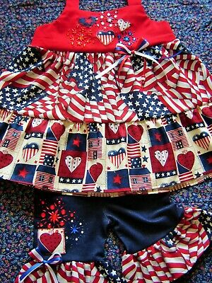 4th of July Memorial Day bomb pops Peasant dress