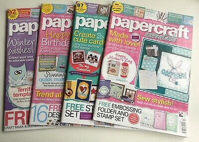 4 x PAPERCRAFT ESSENTIALS MAGAZINES ISSUES 101, 102, 103 & 104 USED