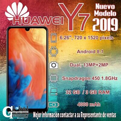 Huawei Y7 2019 DUB-LX3 32GB Unlocked GSM LTE Android 13MP Phone
