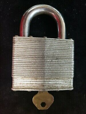 "Huge Heavy Duty Estate Find Vintage 3""across Master Lock No. 19 Pad Lock (M26)"