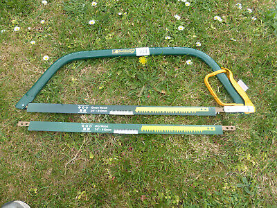 "Genuine Bulldog Garden 24"" Bow Saw With 2 Blades And Hand Guard. Trees Shrubs"