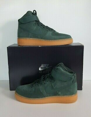 best deals on 22f2e 777d0 Nike Men s Air Force 1 High  07 LV8 Suede Shoes (Green) 8