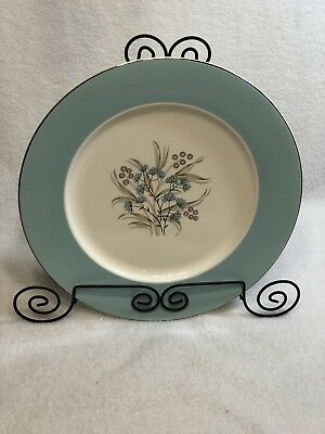 """Vintage TAYLOR SMITH TAYLOR Classic Dinner Plate BLUE Floral 10.5"""""""