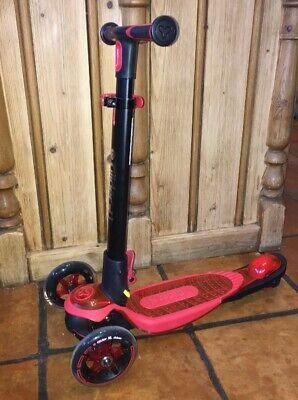 Genuine Yvolution Y Glider Deluxe Scooter In Blue Age 3