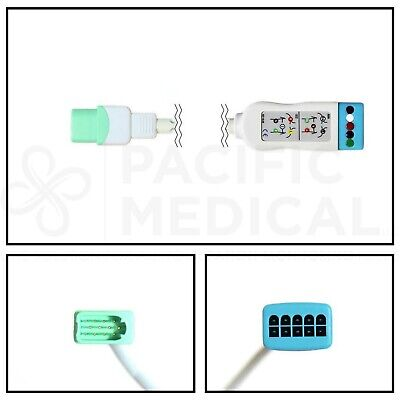 Datascope-Mindray 12 Pin to 5 Lead Dual ECG Trunk Cable