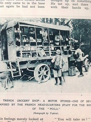 74-4 Ephemera 1916 Ww1 Picture Trench Grocery Shop French
