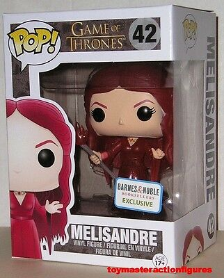 FUNKO POP 2016 GAME OF THRONES MELISANDRE 42 TRANSLUCENT BARNES & NOBLE In Stock