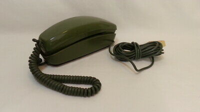 Bell System Trimline Rotary dial Phone avocado green Western Electric