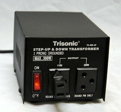 Trisonic 300w Step Up/Down Voltage Converter Transformer Adapter 110V TO 220V
