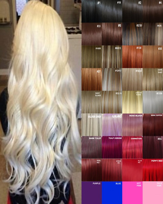 Clip in Hair Extensions real Human Feel Black Dark Brown White Blonde Highlight