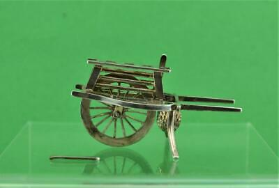 Antique Chinese Japanese Export Silver Hand Cart Menu Holder c 1900  as found