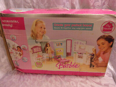 My House Barbie Doll House Create Perfect House w/o all Accessories Toy Vintage