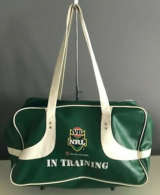 Collectable VB VICTORIA BITTER Green & White NRL In Training Large PU Sports Bag