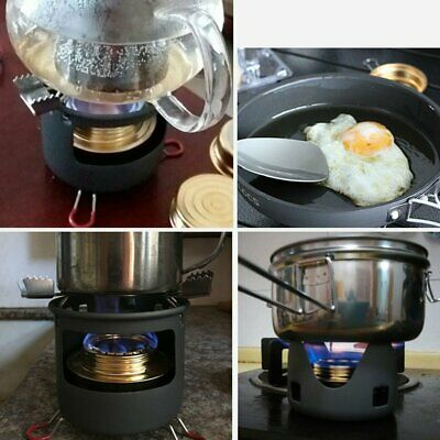 Outdoor Portable Windproof Camping Field Alcohol Stove Furnace Cookware GYT