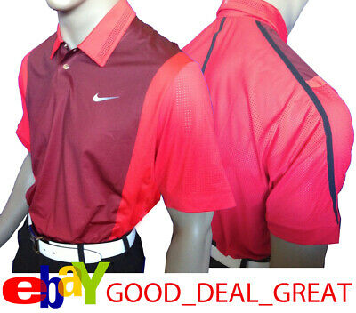 d727f13d Nike TW Tiger Woods Perforated Panel Polo Shirt 542068-421 > *Rare TW Sunday