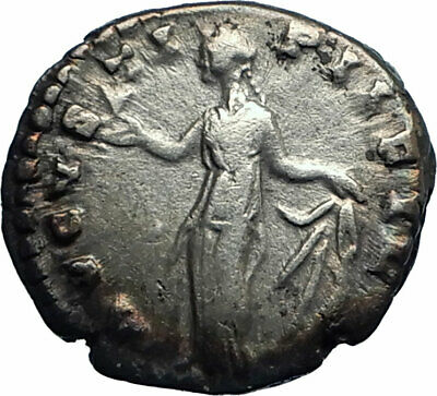 Faustina II wife of Marcus Aurelius 161AD Silver Ancient Roman Coin SPES  i77580