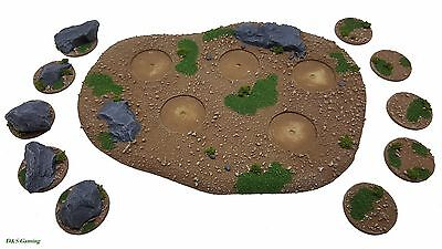 60MM ROUND MDF wood Bases Laser Cut 3mm thick scenery wargames