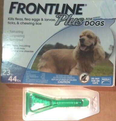 Merial FRONTLINE PLUS for Dogs 23-44 lbs *SINGLE DOSE * 1 MONTH * SHIPS SAMEDAY