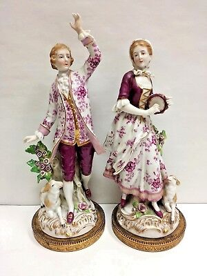Antique Pair of English Porcelain Figures of Lovers