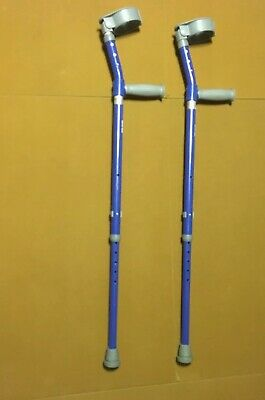 Walk Easy 572 Adjustable Youth/adult Forearm Crutches Blue 150lb Max