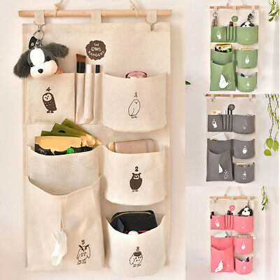 Simple Home Decor Wall Door Closet Hanging Storage Organizer Pocket Pouch Bag Wo